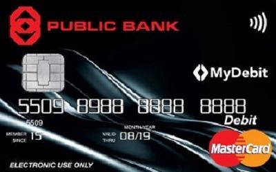 Public Bank MasterCard Lifestyle Debit Card