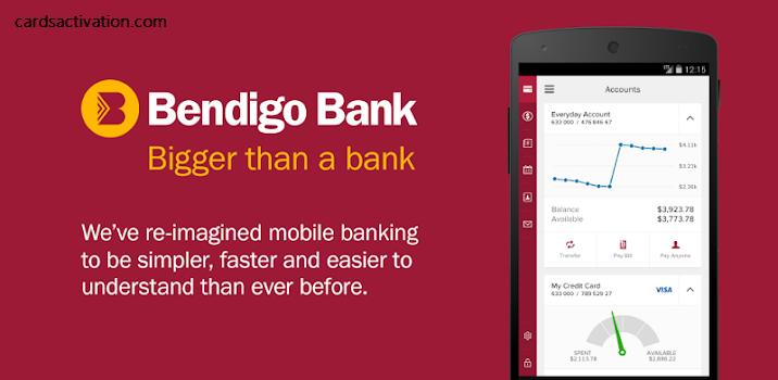 BENDIGO BANK CARD ACTIVATION