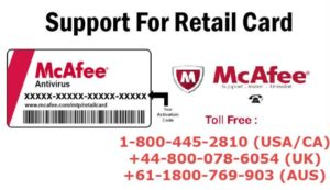 McAfee Retail Card Activation