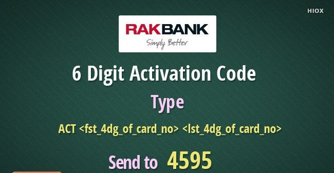 RAK Bank Credit Card Activation