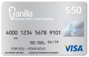 Vanilla Gift Card Activation