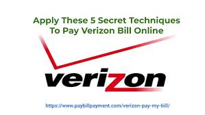 Verizon Pay My Bill