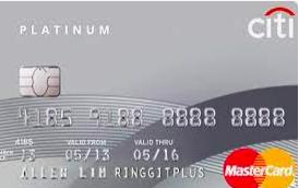 Citibank Platinum Credit Cards