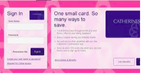 Catherines Credit Card Pay